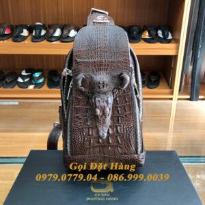 Túi Bao Tử Da Cá Sấu Có Đầu (Mã: C50)