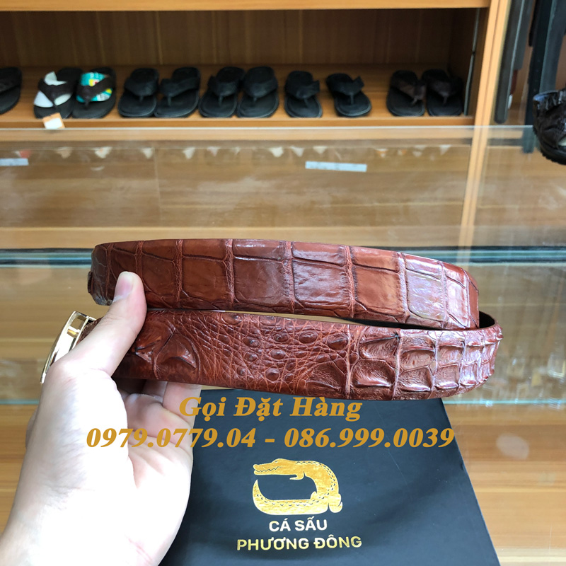 Thắt Lưng Cá Sấu Liền 3.5cm (Mã: L0150)