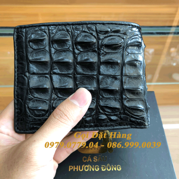 Ví Cá Sấu Gai Lưng (2 Mặt - Mã: 4156)
