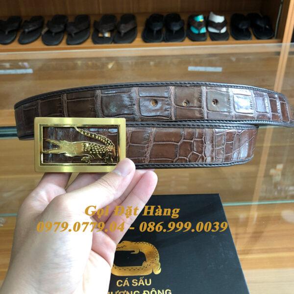 Thắt Lưng Cá Sấu Liền 4cm Đặc Biệt (Mã: 9293)