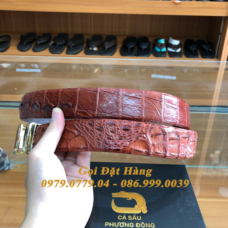 Thắt Lưng Cá Sấu Liền 4cm (Mã: 9298)