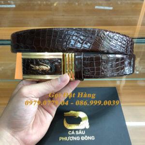 Thắt Lưng Cá Sấu Liền 4cm (Mã: 9308)