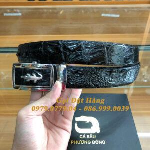 Thắt Lưng Cá Sấu Liền 3.5cm (Mã: L0159)