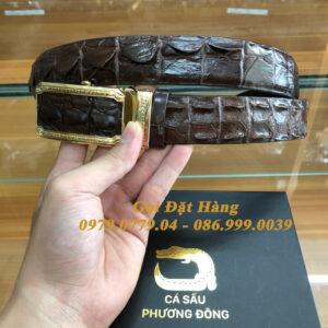 Thắt Lưng Cá Sấu Liền 3.5cm (Mã: L0168)