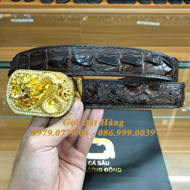 Thắt Lưng Cá Sấu Liền 3.5cm (Mã: L0173)