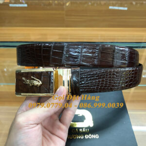 Thắt Lưng Cá Sấu Liền 3.5cm (Mã: L0176)