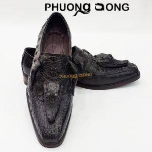 Giày Tây Da Cá Sấu - Có Đầu