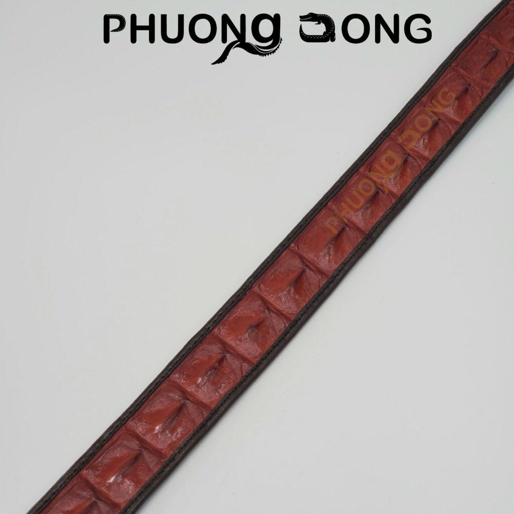 Thắt Lưng Cá Sấu Liền 3.5cm - Gai Có Viền