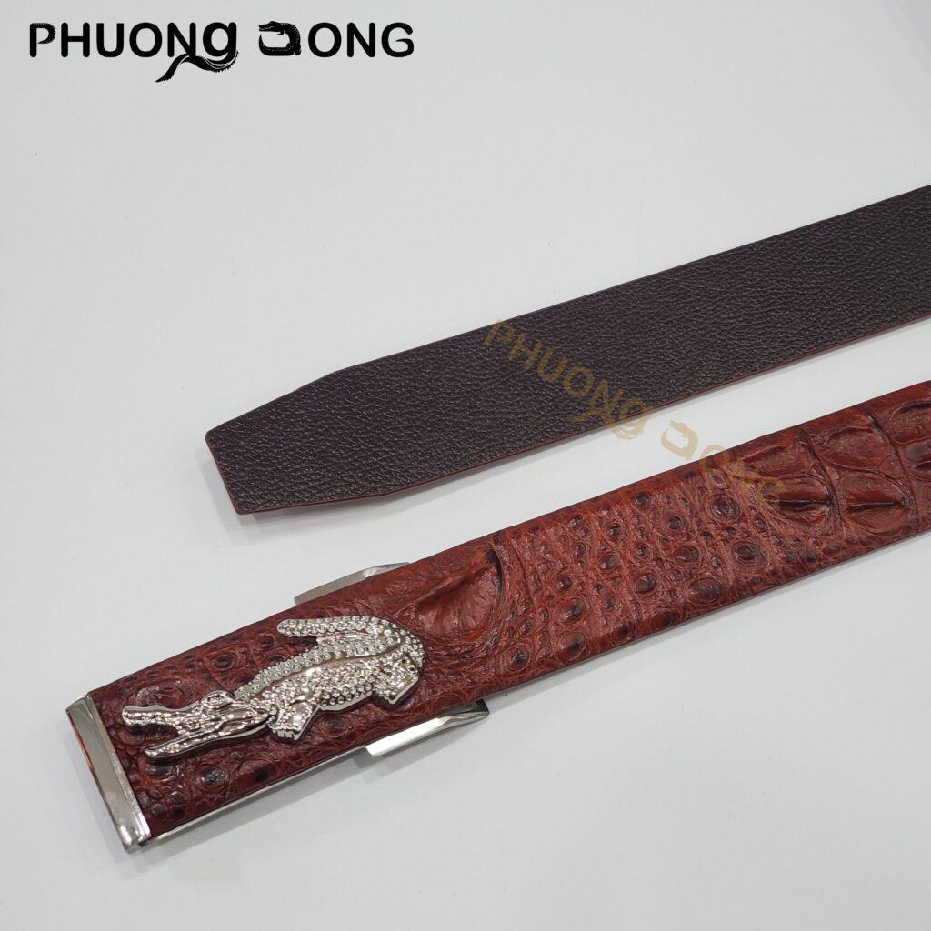 Thắt Lưng Liền Cá Sấu Đặc Biệt 4cm - Gai Lưng